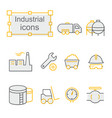 thin line icons set industrial vector image