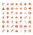 49 warm icons vector image vector image