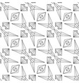 abstract linear seamless pattern on white vector image vector image