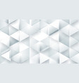 abstract white polygonal triangle geometric 3d vector image vector image
