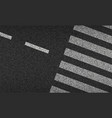 asphalt and crosswalk top view vector image vector image