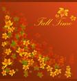 autumn sale banner season leaf card nature vector image vector image