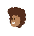 avatar woman face with hairstyle design vector image vector image