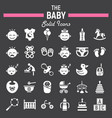 baby solid icon set kid symbols collection vector image vector image