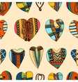 Background hand drawn hearts vector image vector image
