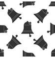 bell icon seamless pattern on white background vector image vector image