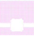 Blank pink card vector image