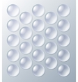 Bubblewrap packaging with air bubbles vector image vector image