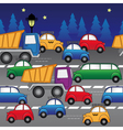 cars on road vector image