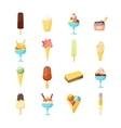 Cartoon Ice Cream Icon Set vector image vector image