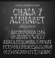 chalk cyrillic and latin alphabets vector image vector image