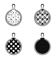 Christmas Ball Black And White Icon Collection vector image vector image