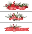 ChristmasNew year horisontal banners vector image vector image