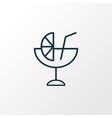 cocktail icon line symbol premium quality vector image