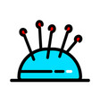 color needle pillow icon for web design vector image vector image