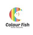 Colour Fish Logo vector image vector image