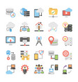 communication colored icons vector image vector image