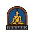 country badge collections thai symbol of big vector image