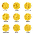crypto currency icons coin vector image vector image
