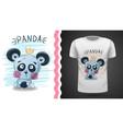 cute panda - idea for print vector image vector image