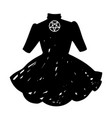 cute womens dress gothic style vector image