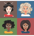 different nationalities vector image vector image
