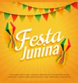 elegant festa junina poster holiday greeting vector image vector image