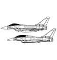 eurofighter typhoon vector image vector image