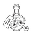 eyeballs in glass bottle isolated sticker patch vector image