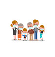 family wearing medical mask to prevent infection vector image vector image