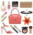 fashion accessories set 9 vector image vector image