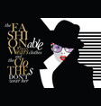 fashion quote with woman in style pop art vector image vector image