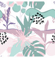 floral background modern fashion design vector image