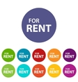 For rent flat icon vector image vector image