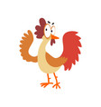 funny hen comic cartoon chicken bird character vector image vector image