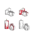 Gift Boxes sketch vector image