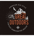 Great outdoors badge and outdoors activity vector image vector image