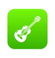 guitar icon green vector image vector image