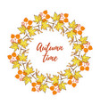 hand drawn vintage autumn wreath vector image vector image