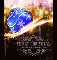 holiday background with blue christmas ball vector image vector image