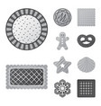 isolated object of biscuit and bake symbol set of vector image