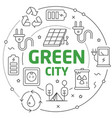 lines green city vector image