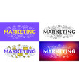 marketing flat line concept for web banner vector image vector image