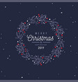merry christmas and new year card banner vector image vector image