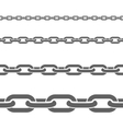 Metal Chains Horizontal Flat Patterns Set vector image vector image