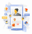 mobile social networking concept vector image