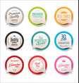 modern bubble speech sticker collection 2 vector image