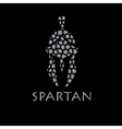 Mosaic Vintage Antiques Spartan warrior design vector image vector image