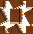 notepad with bookmarks seamless pattern writer vector image