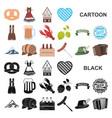 oktober festival in munich cartoon icons in set vector image